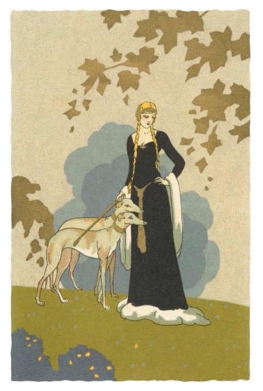 Principessa con Levrieri