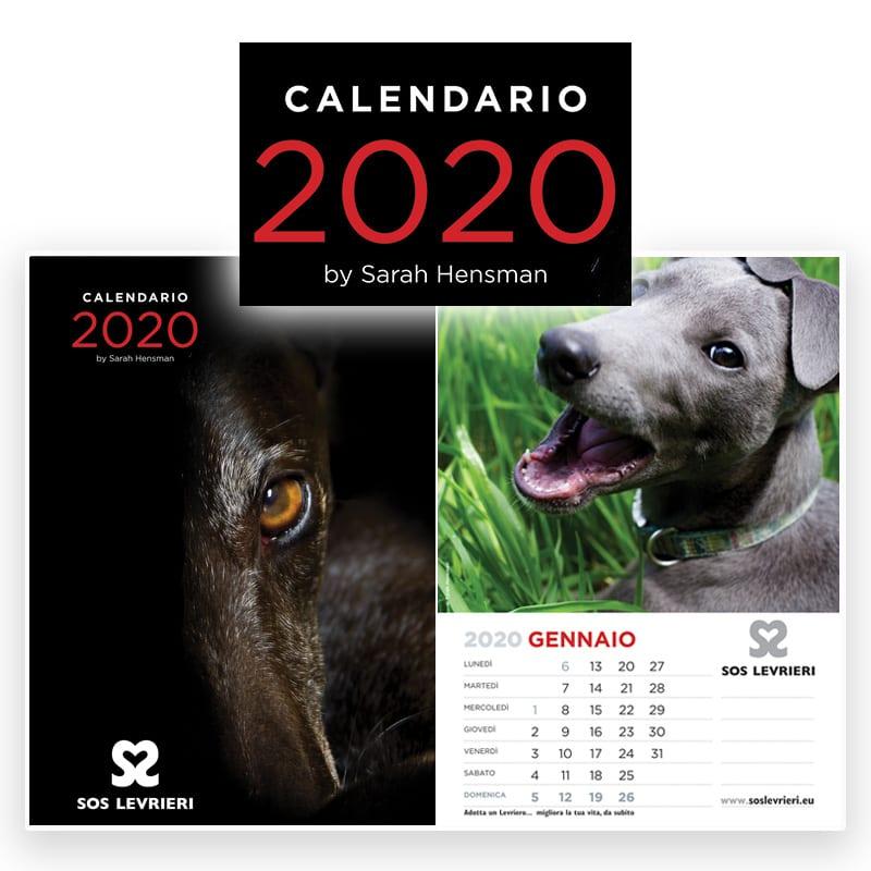 SOS Levrieri Calendario 2020 Prenota